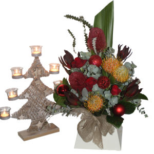 Christmas tree Arrangement and Candle holder