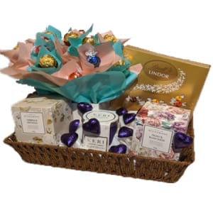 Chocolate and candle hamper