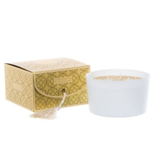 Secret Garden boxed candle White Gold