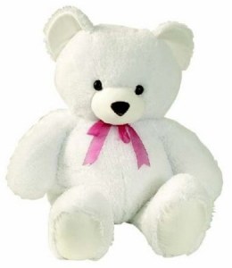 White Teddy Bear 30 cms
