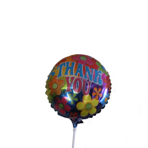 Thank You 9inch air balloon on a stick