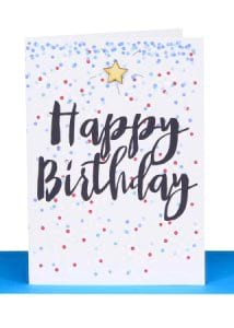 Happy Birthday Gift card (Blue)