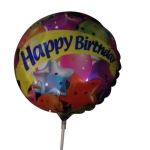 Happy Birthday 9inch air balloon on a stick