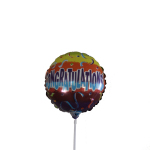 Congratulations 9inch Air balloon on a stick