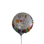 Get Well 9inch  air balloon on a stick